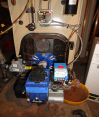 Peerless steam gas boiler that we installed for a condominium in Jersey City, Hudson County, New Jersey.