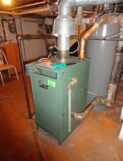 A New Yorker gas steam boiler we service in Bayonne, Harrison, and Kearny in Hudson County, NJ.
