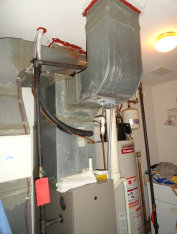 We maintain gas furnaces with air conditioning such as this one from Society Hill in Jersey City, NJ.