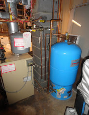 Here is an old oil hot water boiler from Glen Ridge, Essex County. We service oil heat in Newark, Irvington, and Millburn.